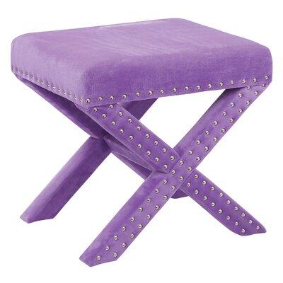 Katie Stool Color: Purple Micro Velvet