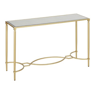Turner Console Table Color: Gold