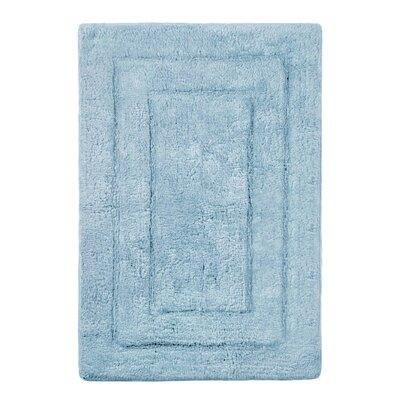 "Abraham Ultra Soft Rectangular Embossed Solid Bath Mat Color: Powder Blue, Size: 24"" x 40"""