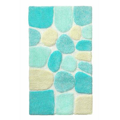 "Archangel Ultra Soft Embossed Pebble Stone Bath Mat Size: 24"" x 60"", Color: Blue"