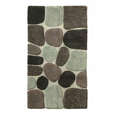 "Archangel Ultra Soft Embossed Pebble Stone Bath Mat Size: 24"" x 60"", Color: Grey"