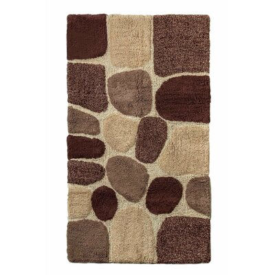 """Archangel Ultra Soft Embossed Pebble Stone Bath Mat Size: 24"""" x 60"""", Color: Brown"""
