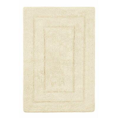 "Abraham Ultra Soft Rectangular Embossed Solid Bath Mat Color: Cream, Size: 24"" x 40"""
