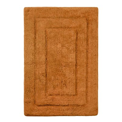 """Abraham Ultra Soft Rectangular Embossed Solid Bath Mat Color: Tan, Size: 24"""" x 40"""""""