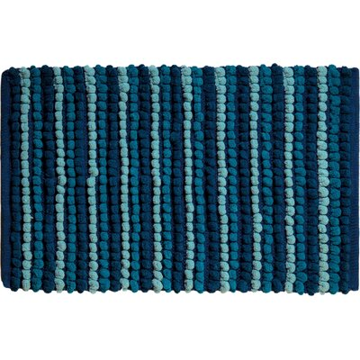 Chardin Pebble Ball Plush Bath Mat Color: Blue