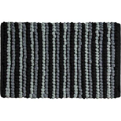 Chardin Pebble Ball Plush Bath Mat Color: Black