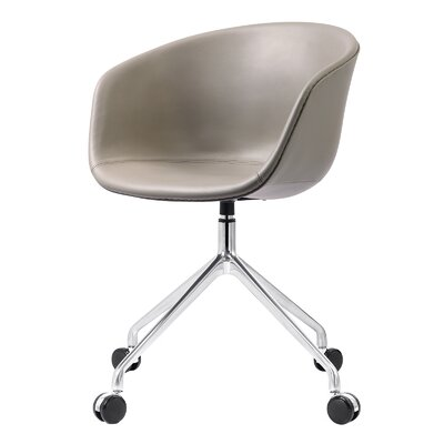 Leather Desk Chair Color: Gray