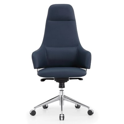 High-Back Executive Chair Color: Navy Blue
