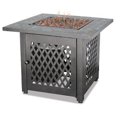 Uniflame Slate LP Gas Outdoor Fire Pit Table