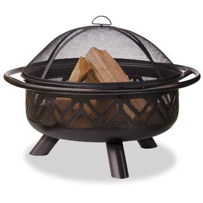 Uniflame Steel Wood Burning Fire Pit