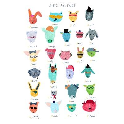 Hanna Melin ABC Animal Friends Art Print