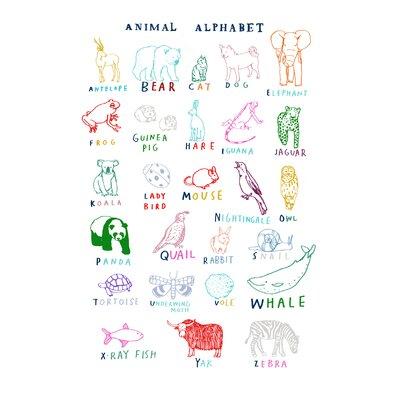 Hanna Melin Animal Alphabet Art Print