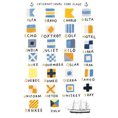 Hanna Melin Nautical Code Flags Art Print