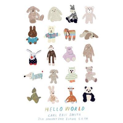 Hanna Melin Hello World Baby Art Print