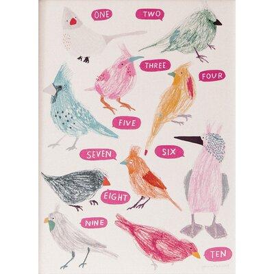 Hanna Melin 10 Birds Counting Art Print