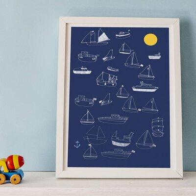 Hanna Melin Boat and Sun by Hanna Melin Framed Graphic Art