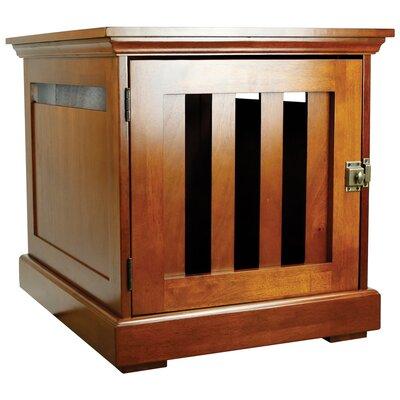 """Oscar Wooden Pet Crate Size: 22.5"""" H x 19.5"""" W x 22.5"""" L, Color: Mahogany"""