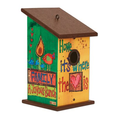 Where the Heart Is 12.5 in x 7 in x 7 in Birdhouse