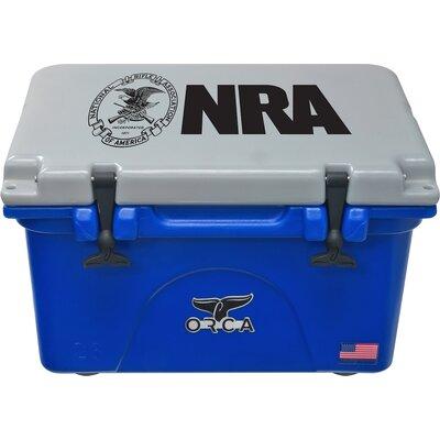 26 Qt. NRA Premium Rotomolded Cooler Color: Blue/Gray