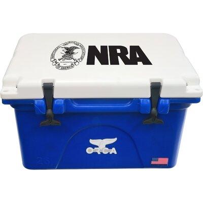 26 Qt. NRA Premium Rotomolded Cooler Color: Blue/White