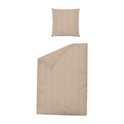 Dormisette Bettwäsche-Set Damast Struktur aus 100% reiner Baumwolle