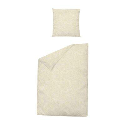 Dormisette Bettwäsche-Set Damast Rose aus 100% Baumwolle