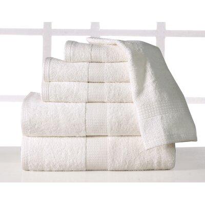 Farnworth Plush 6 Piece 100% Cotton Towel Set Color: Ivory