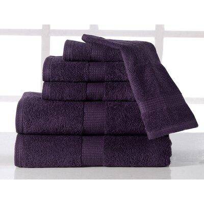 Farnworth Plush 6 Piece 100% Cotton Towel Set Color: Plum