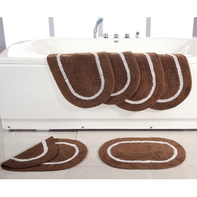 Landisburg Reversible Bath Rug Color: Brown