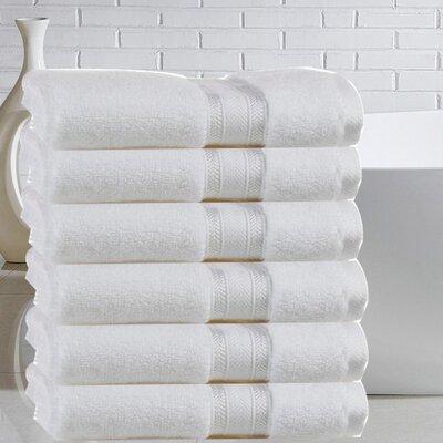Briele 100% Cotton Hand Towel Color: White