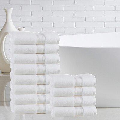 Briele 100% Cotton Washcloth Color: White