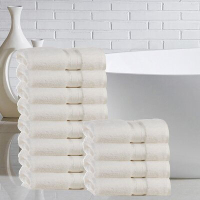 Briele 100% Cotton Washcloth Color: Ivory