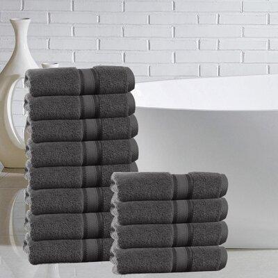 Briele 100% Cotton Washcloth Color: Gray
