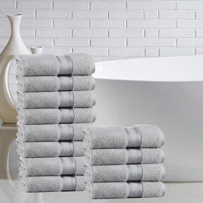 Briele 100% Cotton Washcloth Color: Glacier Gray