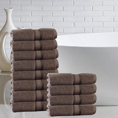 Briele 100% Cotton Washcloth Color: Chocolate
