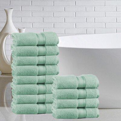 Briele 100% Cotton Washcloth Color: Jade
