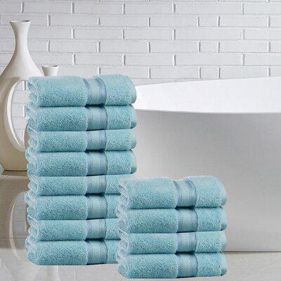 Briele 100% Cotton Washcloth Color: Blue