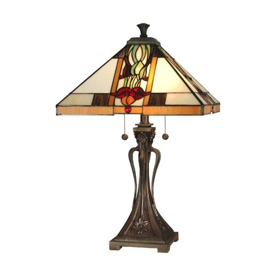 """Dale Tiffany Natalie Mission 26"""" H Table Lamp with Empire Shade"""