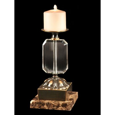 Dale Tiffany Florence Crystal, Marble and Metal Candlestick