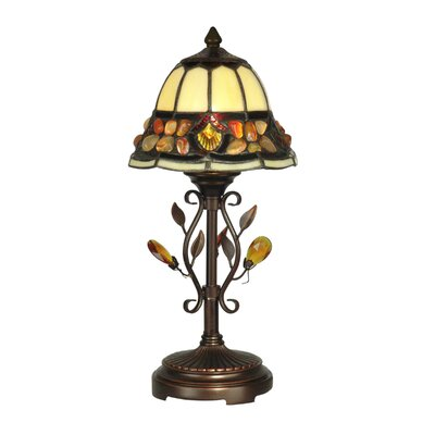"""Dale Tiffany Pebblestone 15.25"""" H Table Lamp with Bell Shade"""