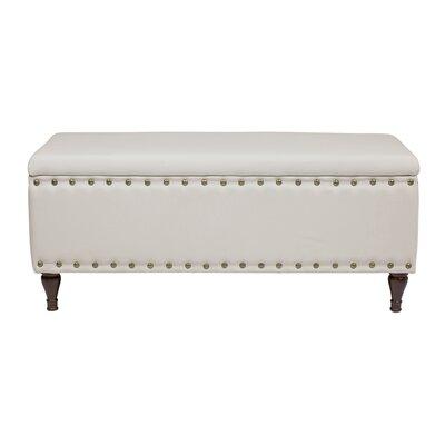 Upholstered Storage Bench Color: Beige