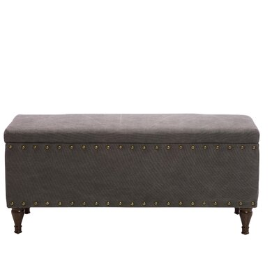 Upholstered Storage Bench Color: Gray