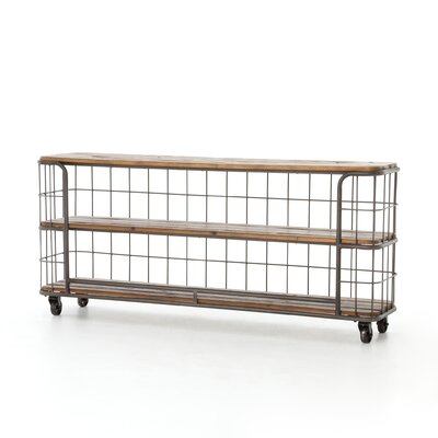 Storage Basket Console Table