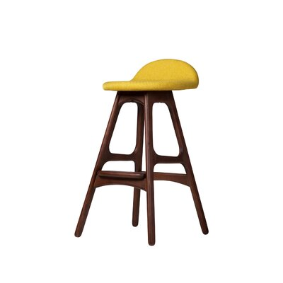 "25.5"" Bar Stool Seat Color: Yellow"