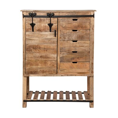 Marinez Restoration Kitchen Storage 1 Door Accent Cabinet