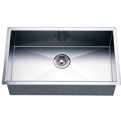 "26"" L x 18"" W Under Mount Single Bowl Square Kitchen Sink"