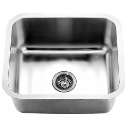 "21.06"" L x 18.13"" W Under Mount Single Bowl Kitchen Sink"