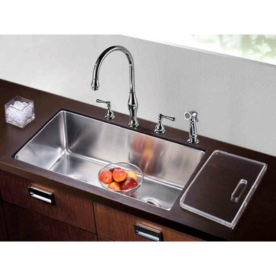 "32"" L x 18.5"" W Undermount Single to Double Combination Bowl Kitchen Sink"