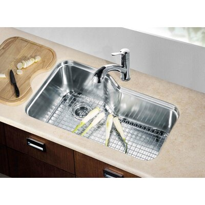 "32.75"" L x 20.25"" W Under Mount Single Bowl Kitchen Sink"