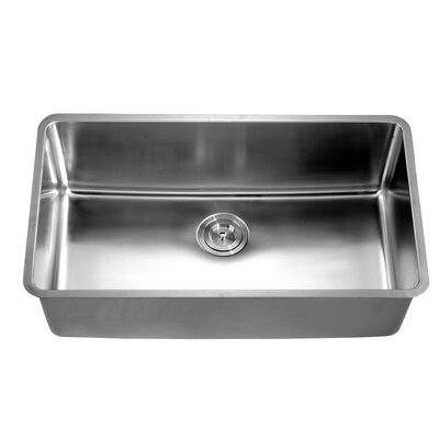 "32"" L x 18.5"" W Under Mount Single Bowl Kitchen Sink"